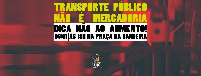 UJC, em Joinville, na luta contra o aumento da tarifa de ônibus.