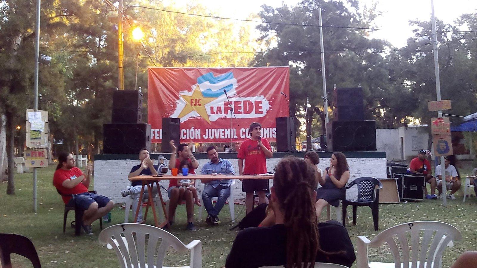 UJC participa do acampamento da FEDE-Argentina
