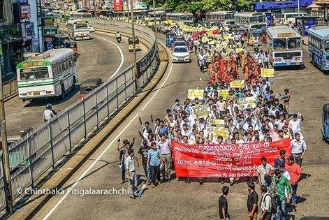 Pronunciamento da FMJD em solidariedade ao movimento estudantil do Sri Lanka