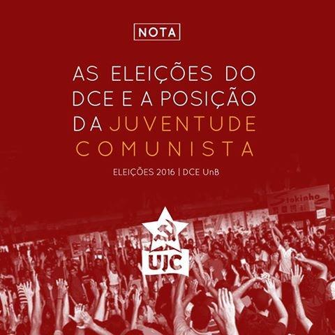 As Eleições do DCE/UnB 2016 e a posição da União da Juventude Comunista – UJC