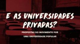 E as universidades privadas?