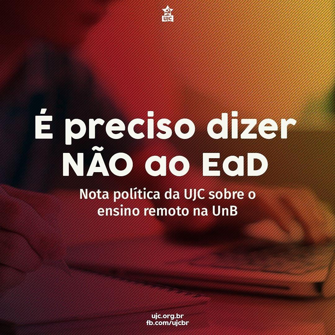 É PRECISO DIZER NÃO AO ENSINO REMOTO!!